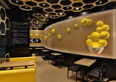 Restaurant Interior Design (Food Counter)